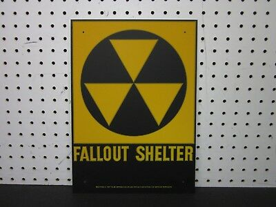 VINTAGE - NEW OLD STOCK - FALLOUT SHELTER Sign Original 1960's (NOS)