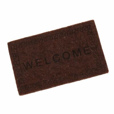 Doll House Miniature carpet WELCOME Mat Dollhouse Accessories Home & Living I1L2