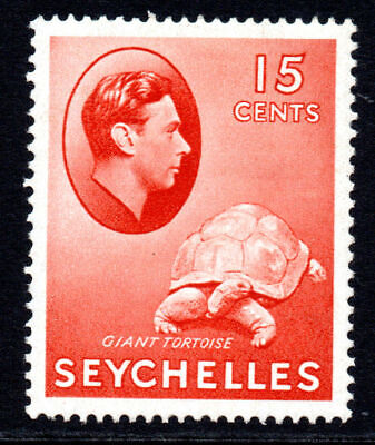 Seychelles 15 Cent Stamp c1938-49 Mounted Mint (chalk)
