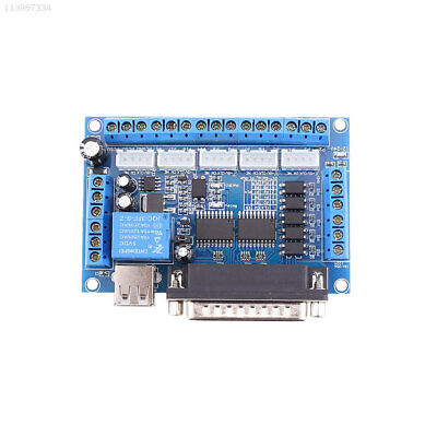 5 Axis CNC Adapter Breakout Board with USB Cable For Stepper Motor Driver MACH3