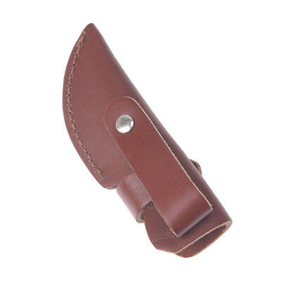 1pc knife holder outdoor tool sheath cow leather for pocket knife pouch case IO