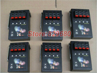 6pcs 4 Cues receivers Switch digital remote fireworks firing system copper wire