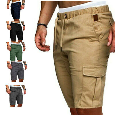 Mens Cargo Shorts Casual Summer Work Half Pants Running Sport Jogging Sweatpants