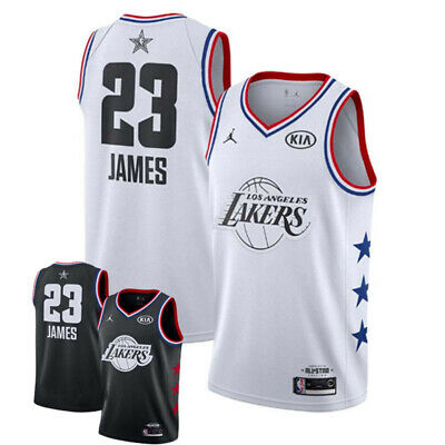 All-Star Jersey Vêtements Basket-Ball Noir/Blanc Swingman Ersey Basketball Top