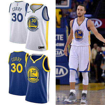 #30 Stephen·Curry Maillot de basket GoldenStateWarriors Jersey Blanc Gilet Homme