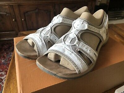 Earth Spirit Fairmont Womens Ladies White Leather Walking Sandals Size UK 6