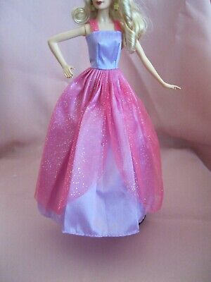 Barbie Clothes Dress Gown - Lilac And Pink Sparkle  (Doll Not Included)