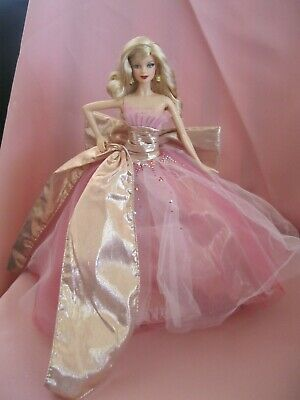 Barbie Clothes Dress Gown - Pink Detailed Holiday Gown  (Doll Not Included)