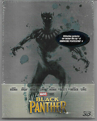 BLACK PANTHER - Marvel / Blu-Ray 2D+3D Steelbook Neuf sous blister - VF