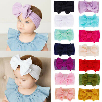 1PC Newborn Toddler Kid Baby Girls Flowers Turban Headband Headwear Accessories