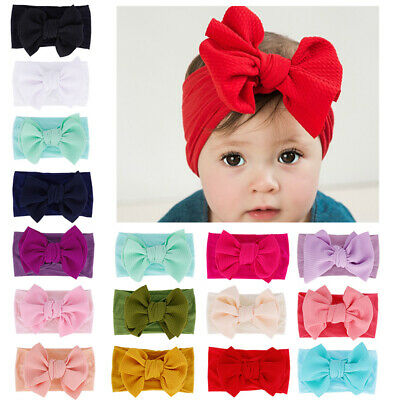 Toddler Baby Girls Large Bow Headband Infant Toddler Knot Hair Band Head Wrap