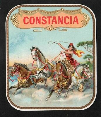 Vitola, original outer cigar label. Constancia.