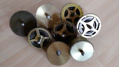 Job lot of 8 vintage clock springs movements for parts spares