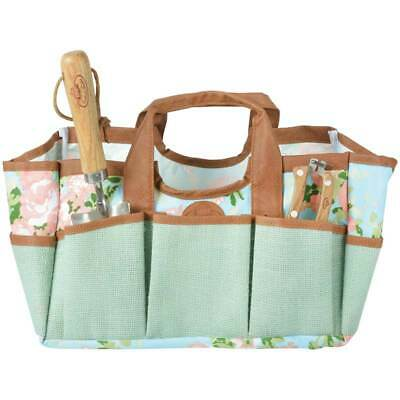Esschert Design Rose print Garden Tool Bag by Fallen Fruits