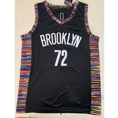 Brooklyn Nets #72 Biggie Smalls Black Swingman Basket-ball Jersey Gilet Maillot