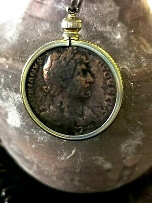 Roman Coin 1,800 Years Old Of Hadrian (Great Detail) Mummy/ Roman Necklace