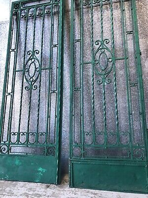 Architectural Set ANTIQUE Wrought Iron French Farmhouse Country Gates / Doors