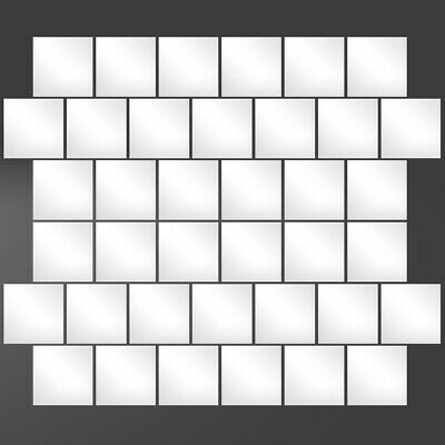 32PCS 3D DIY Home Room Square Mirror-Face Tile Wall Stickers Decal Mosaic Decor