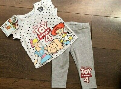 Primark Baby Girls Disney Toy Story 4 Top And Legging Set Bnwt All Ages
