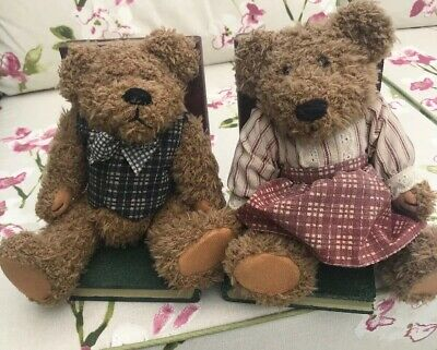 Teddy Bear Wooden Plush Bookends