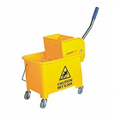 COMMERCIAL MOP BUCKET WRINGER/CLEANING BUCKET-YELLOW or BLUE  -20 LTR