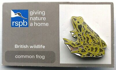 Rspb Giving Nature A Home British Wildlife Common Frog Charity Pin Badge On -Tic