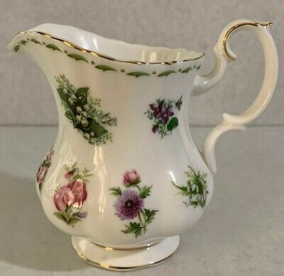 Royal Albert Flower of the Month Cream Pitcher / Creamer -MINT 1st Quality!