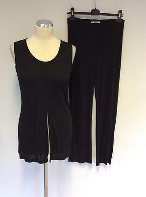Marella Black Sleeveless Top  & Trousers Outfit Size M