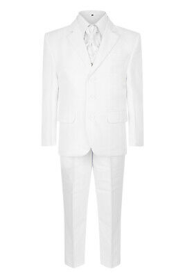 Brand New Boys Formal 5Piece Suit Boy Prom Wedding Suit In White Ages 1 To 15