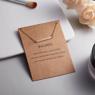 Chic Balance Gold Bar Necklace Pendant Chain Charm Party Christmas Women Gift