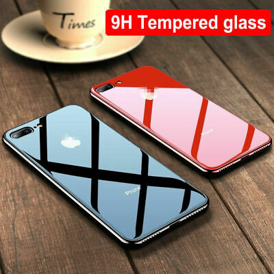 Luxury Hybrid Tempered Glass Phone Case Cover For iPhone X XR XS Max 8 7 6S Plus
