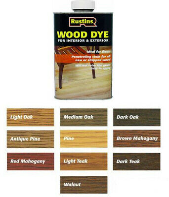 Rustins Wood Dye Quick Drying, Non-Fading and Non-Bleeding All Colours & Sizes