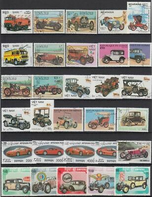 Cars Postage Stamps Different 100pcs Unused With Post Marks Worldwide Collection
