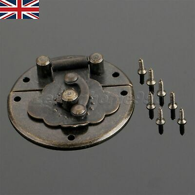 UK STOCK Antique Bronze Chinese Style Wooden Gift Wine Jewelry Box Buckle Latch