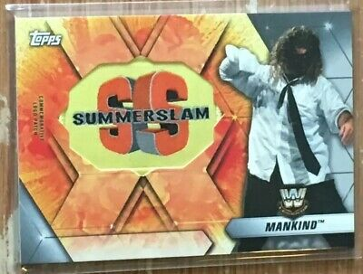 2019 Topps WWE Summerslam Mankind Logo Patch Card #'d 22/25!!