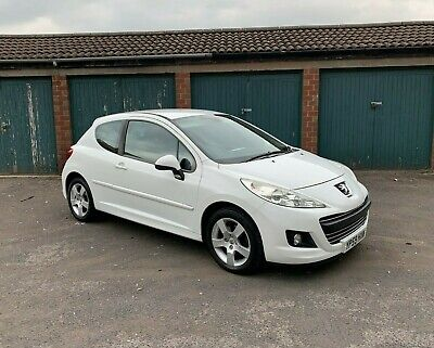 2010 59 Reg Peugeot 207 Sport Manual White 3 Door 1.6 Petrol No Reserve Auction!