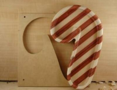 Candy Cane Bowl Template