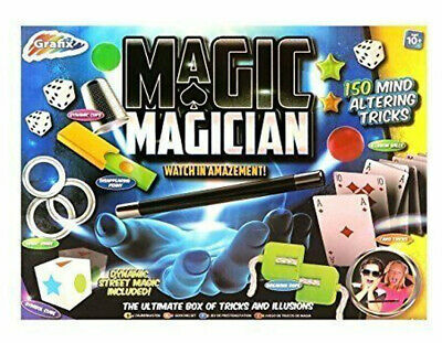 Grafix Magic Trick Magician Ultimate Box of Tricks and Illusions (150 Tricks)