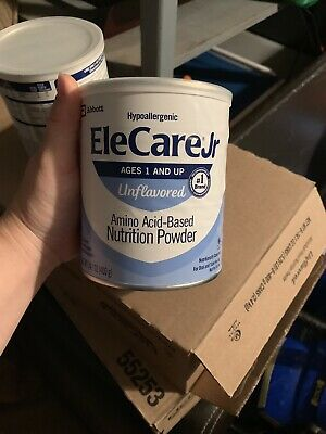 EleCare Jr Unflavored 2 Cans 14.1oz Can Powder.