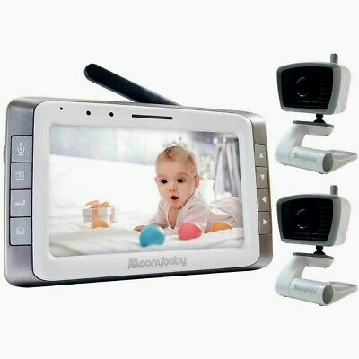 Video Baby Monitor with 2 Cameras, 5 inches Large Screen, Long Battery Life