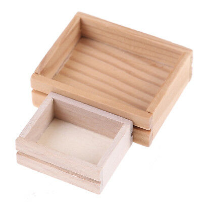 1/12`dollhouse miniature accessories wooden box furniture model toy forkidsto HV