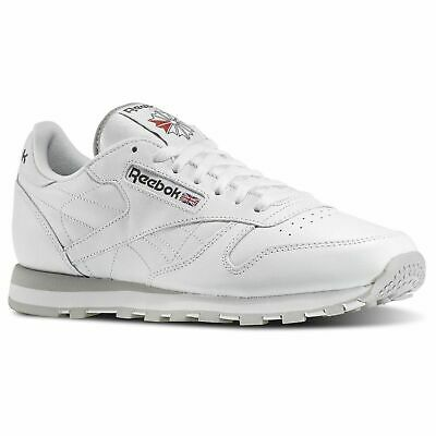 New Reebok Cl Lthr Classic Leather Men's Athletic Shoes (White 101) Size 8