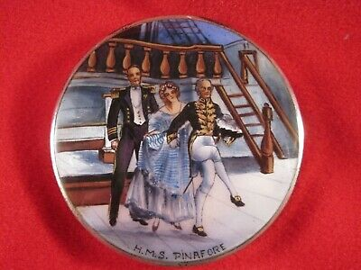 HMS Pinafore, English Sterling & Guilloche Enamel Ladies' Compact