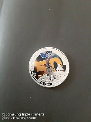 Solomon islands The Moon Landing 50th Anniversary Half Dollar Proof Coin