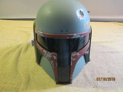 Star Wars Boba Fett Electronic Helmet In Box Hasbro 94995 no antenna