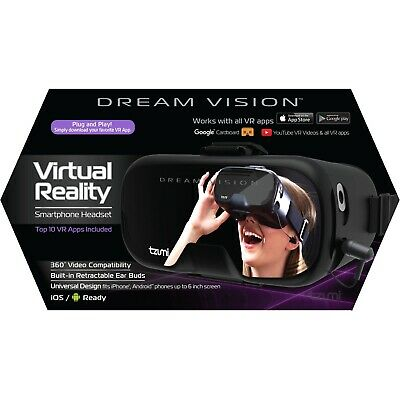 Tzumi Dream Vision•Virtual Reality HeadSet• iOS & Android •Black VR • NEW