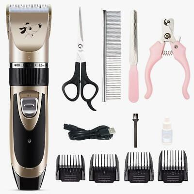 Professional Electric Pet Cat Dog Hair Grooming Clipper Trimmer Shaver Razor Set