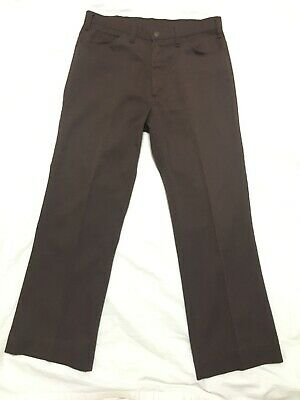 Vtg Levi's Big E Slacks Pants 60s 70s Brown Cord 32 X 27 Jeans Sta Prest