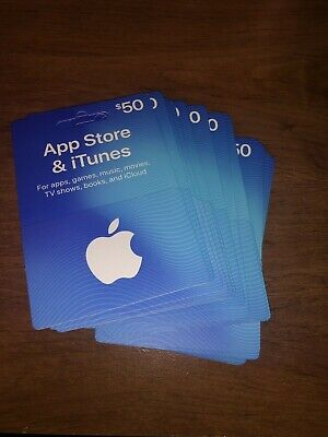 US Apple App Store & iTunes $50 x 10 Physical Gift Card total $500 value
