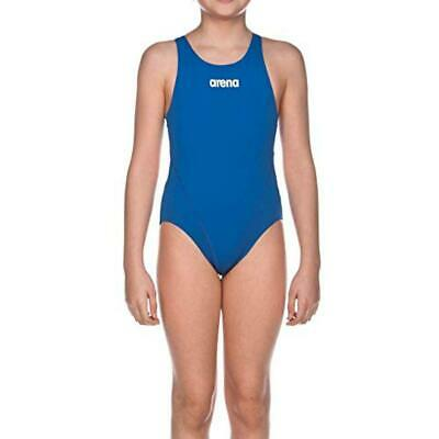 (TG. 43749) Arena G Solid Swim Tech Junior Costume Sportivo, Bambina, Blu (Royal